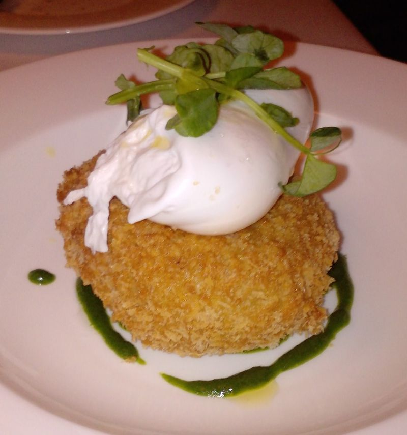 Corrigan's Rabbit with Poached Egg