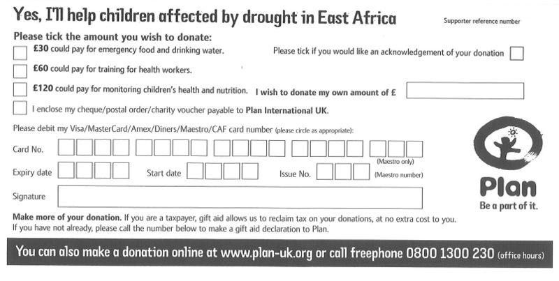 Plan Donation Form