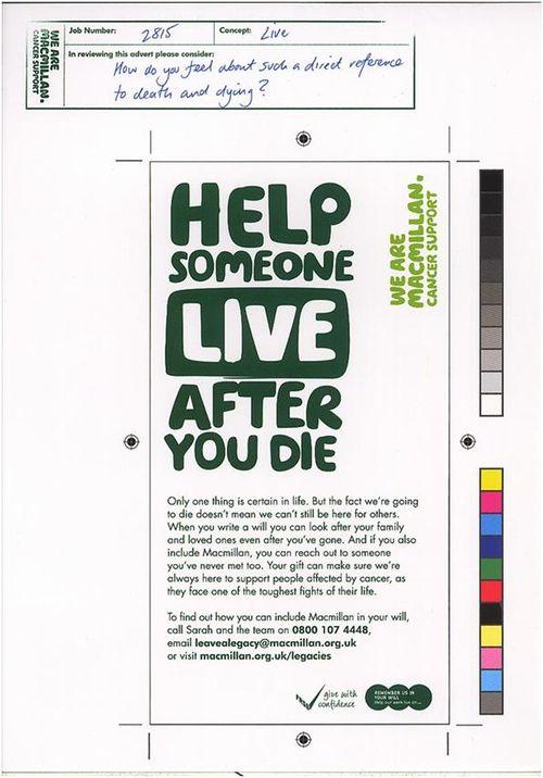 Macmillan Legacy Ad